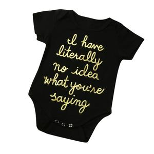 04f5bfd6 Stonershop Newborn Infant Toddler Baby Boy Girl Letter Romper Jumpsuit  Outfits Clothes