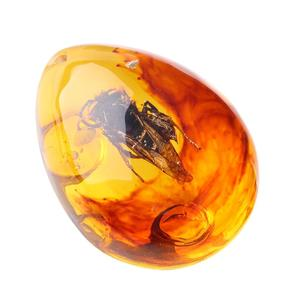 Gemstone Pendant Insects Amber Pendant Beautiful 5 Color Resin Decorations Necklace Insects Pendant Gift Ornament