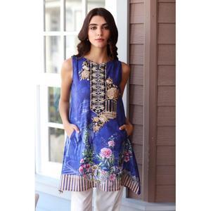 So Kamal Winter Collection  Blue Karandi Embroidered 1PC -Unstitched Shirt DPW18 766 EF01281-STD-NBL