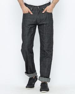 Black Straight Cut Jeans for Men