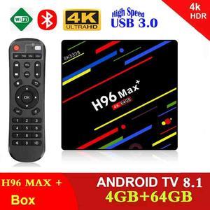 H96 MAX Plus 4GB 64GB RK3328 Android 8.1 Oreo TV Box  Smart 4K set top box 2.4G/5G WIFI H96Max + BT Media player