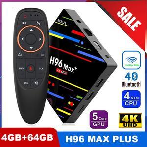 H96 MAX Plus Smart TV Box Android 9.0 TVBox 4GB Ram 64GB Rom Rockchip RK3328 4K H.265 USB3.0 2.4/5 Ghz WiFi IP TV Set Top Box