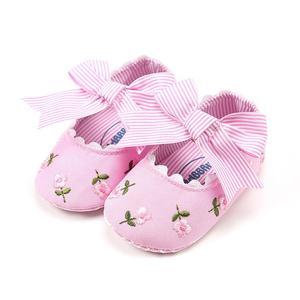 Lovely Girls Princess Shoes Soft Bottom Soled Non-slip Anti-skid Toddler Shoe Pink 11cm