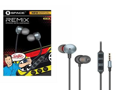 Space REMIX Dynamic Metal Earphones – Product No. RX-509