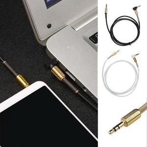 90 Degree 3.5mm Stereo Audio AUX Cable Male to Male For Headphone Home Car