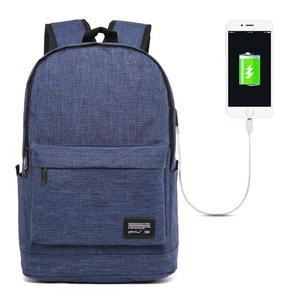 Universal Multi-Function Oxford Cloth Laptop Shoulders Bag Backpack with External USB Charging Port, Size: 45x31x16cm, For 15.6 inch and Below Macbook, Samsung, Lenovo, Sony, DELL Alienware, CHUWI, ASUS, HP(Blue)