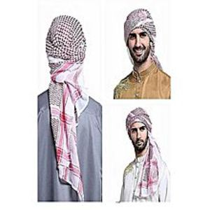 Best Collection Arab Scarf For Women Red&White