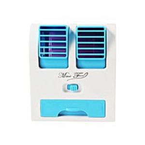 GiftsshopDual Air Conditioner Shaped Mini Cooler USB Fan With Fragrance