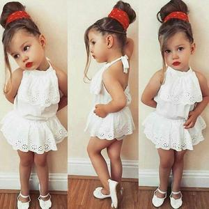 e5fbe4cf2cfa Newborn Infant Baby Girl Lace Romper Jumpsuit Bodysuit Clothes Outfit  Sunsuit