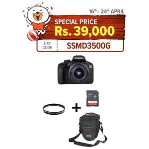 Pack Of 5- Canon DSLR EOS 4000D With 18-55mm,16GB,V Bag,Lens Filter