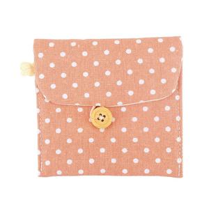 Lightweight Lady Linen Sanitary Napkin Towel Pad Small Mini Bags Case Pouch