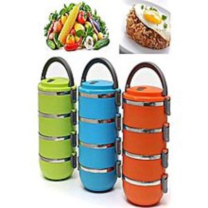 FIT-BAZAAR4 Layer Lunch Box Stainless Steel FB-0113