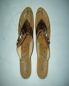 Bronze Rexine Flip Flop Chappal For Women
