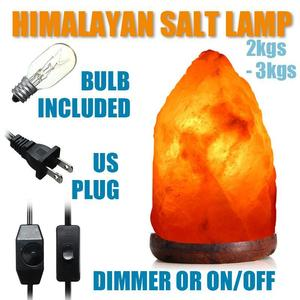 Himalayan Natural Crystal Salt Night Lamp Air Purifier Dimmer Switch 2-3 Kg 110V