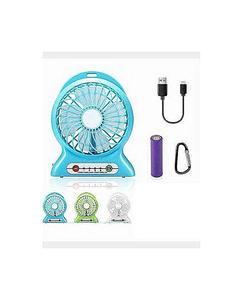 2 In 1 Rechargeable Portable Mini Power Bank + Fan