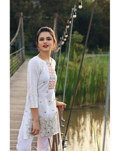So Kamal Winter Collection  Cream Karandi Embroidered 1PC -Unstitched Shirt DPW18 850 EF01365-STD-CRM