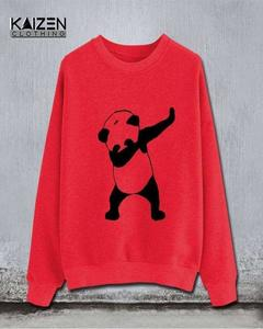 Red Dab Panda Print Sweat Shirt For Man