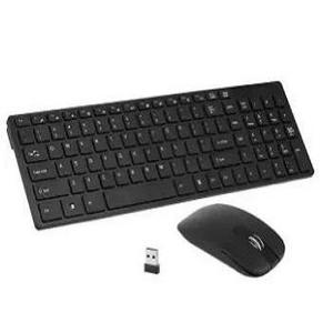 Black Combo Of 1 Wireless Keyboard 2.4GHz + 1 Wireless Mouse