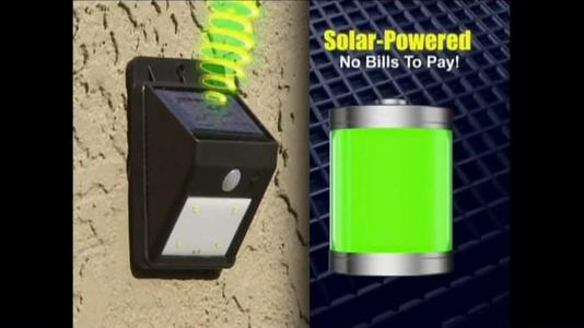 Ever Brite Solar Power Led Light Indoor/Outdoor Wireless Motion Activated Sensor