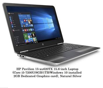 HP PAVILION 15-AU620TX LAPTOP (CORE I5 7TH GEN/8 GB/1 TB/WINDOWS 10/2 GB) - (DADICATED GRAPHICS CARD)