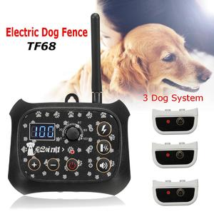 Wireless Electric Pet Dog Fence Rechargeable No-Wire 3 Dog System Containment EU Plug