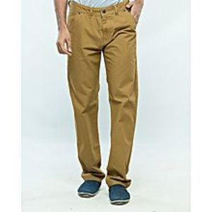 Alam's Store Camel Slim Fit Cotton Jeans for Men
