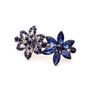 Classic Gemstone Hairpin Side Clip Rhinestone For Women Jewelry 03#