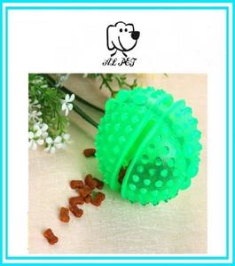 Plastic Treat Dispensing Toy Ball for Dogs - 09 cm - Green