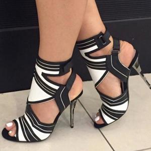 Women's Fashion Casual Fish Mouth Thin Heels Fish Mouth Wild Stiletto Sandal