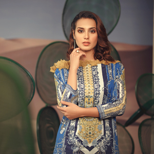 Alkaram studio Spring Summer Collection 2020 Vol I Blue Lawn 2 Piece Suit For Women -A132225660