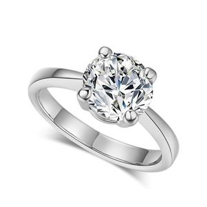Cubic Zirconia White Gold Color Wedding Rings Size No 7