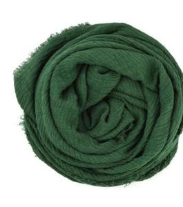 Beautiful Crinkle Hijab Scarf For Women Crinkle Green