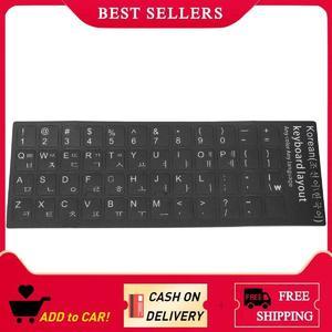 【Free Shipping】Korean Keyboard Sticker Printed In Korea Tight Transparent White Letters Laptop