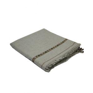DesiBazaar Grey Wool Handmade Shawl for Men