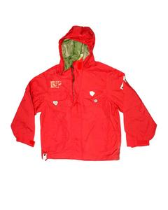 Stylish Red Printed Zipper Hoodie Jacket for Boy