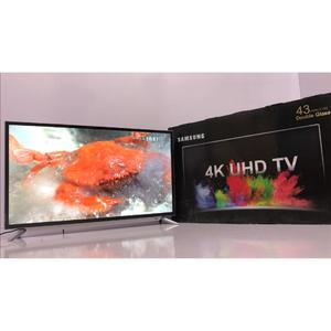 """Samsung - 43"""" Inch UHD 4k Led Flat Double Glass Smart Tv - Model: NU Series N7100 - Colour:Silver - 2 Years Circuit Warranty - With Free Wall-Mount & Free 16 Gb USB (Included 4k Videos For Test)"""