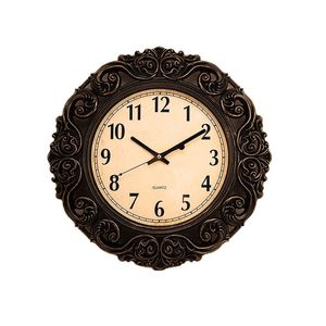Asaan Buy Antique Gold Shaded Black Wall Clock - 17x17