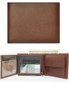 Brown Cow Leather 19 Pockets Wallet For Men