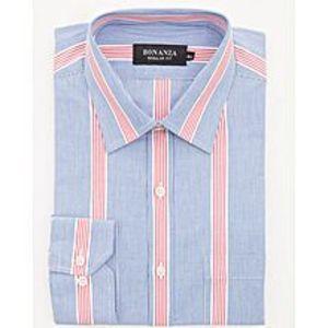 Bonanza SatrangiBlue Pc Men's Smart Shirt