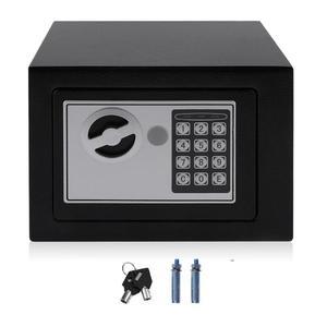EF Electronic Safe Box With Digital Keypad Lock 4.6L Mini Jewelry Storage Case