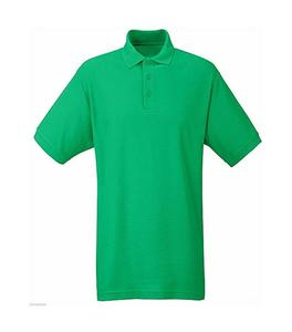 Sea Green Plain Polo T-Shirt For Men