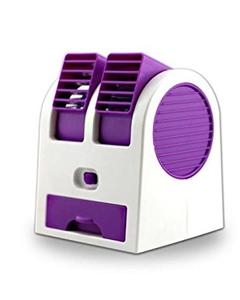 Giftsshop Dual Air Conditioner Shaped Mini Cooler USB Fan With Fragrance