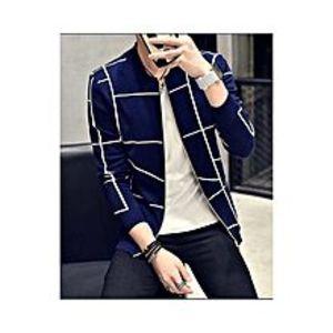 Daraz FashionBlue Fleece Printed Zippered Jacket for Men