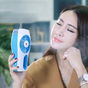 Portable USB Mini Handheld Humidifier Mist Face Water Spray Moisturizing Fan(Pink)