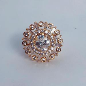 Wedding Ring Gold Plated Top Quality White Crystal Stone and Material