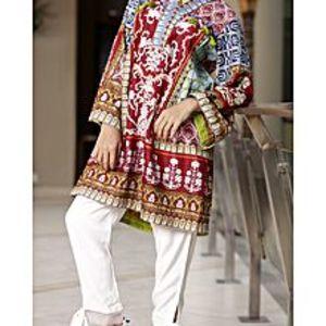 AlmirahNatural Lawn Stitched Kurti For Women AL-LK-568/ALP-304