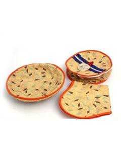 Pack of 3 - Roti Basket - Multi Color
