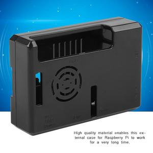 Faster Heat Dissipation Case for Raspberry Pi Black Shell for Raspberry Pi Model B+/3/2 Model B