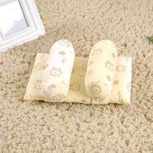 Newborn Baby Cartoon Cot Pillow Children Anti-flat Head Sleep Cushion Positioner Light  Yellow 2#