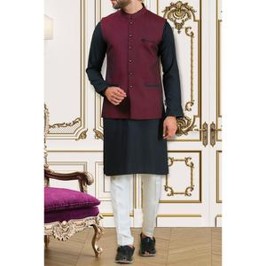 Almirah Winter Collection 2018 POLYESTER Mehroon Mens Waistcoat